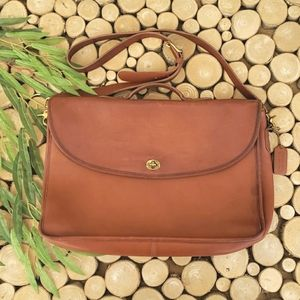 Vintage Coach Leather Briefcase - Shoulder Strap